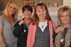 Sylvia Schmier, Pam Gottula, & Patty Sneed w/ Sandy from Wicked Steel