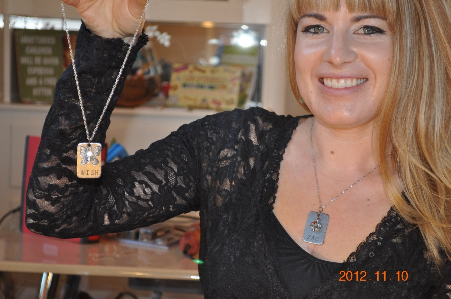 Personalized Stainless Necklaces Nov. 10 2012 Class