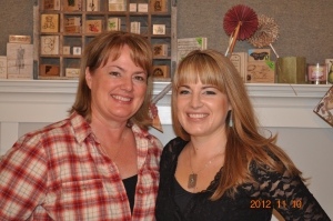 Risse & Katie Keysi wearing dog-tag necklaces from jewelry class