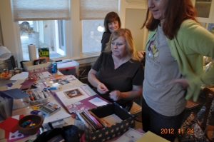 First Craft All Day Event - Nov. 2012.  Sylvia Schmier, Valerie Casal, Sherry Coleman