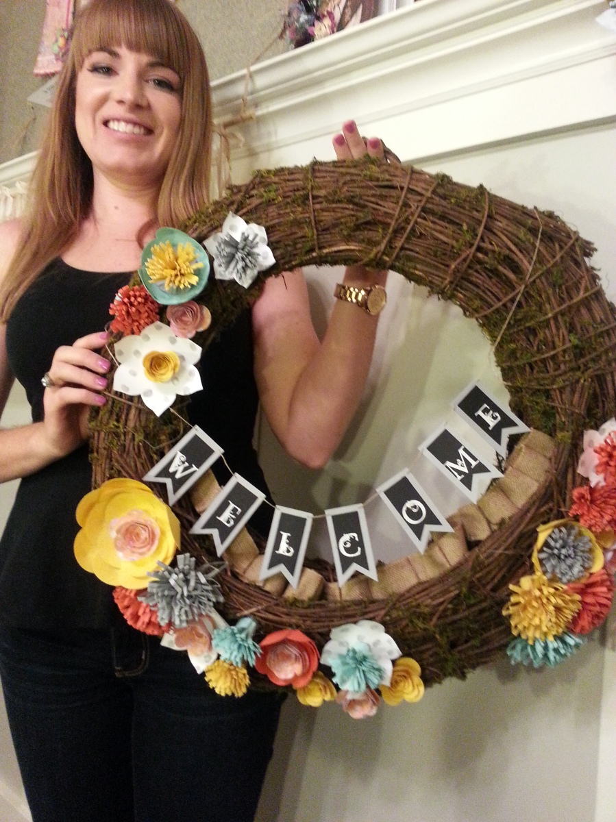 June 2014 Paper Crafting Wreath Class