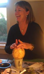 risse decoupaging ostrich egg