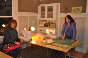 Denise Zagaris & Lorna Watts w/ Risse @ a Friday Nite Craft n'Gab