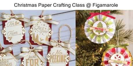 christmas paper crafting class 2017